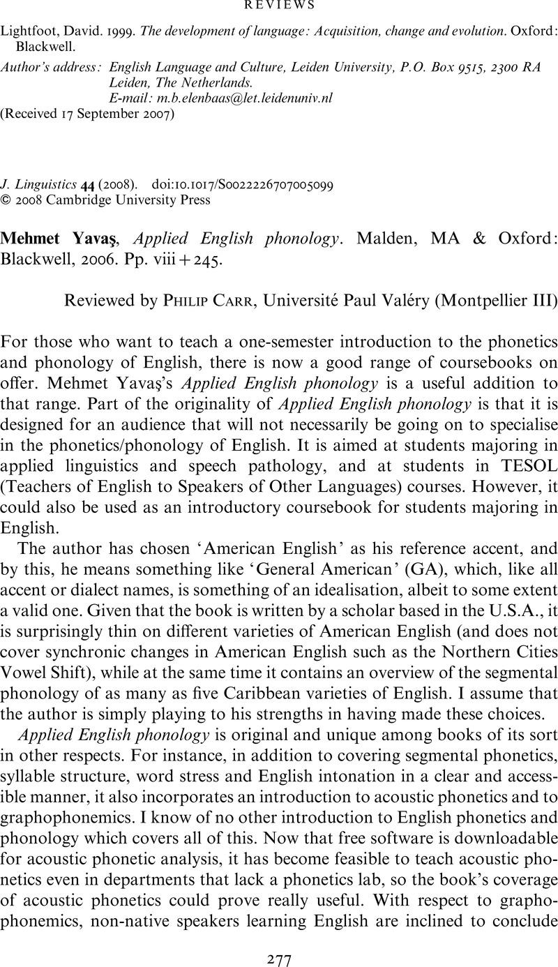 Applied English Phonology Mehmet Yavas Pdf