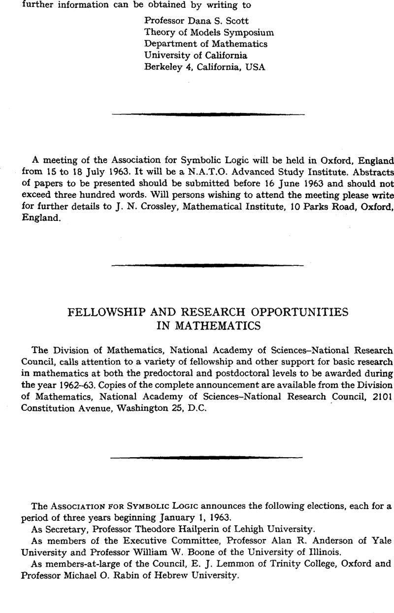 Fellowship And Research Opportunities In Mathematics The Journal