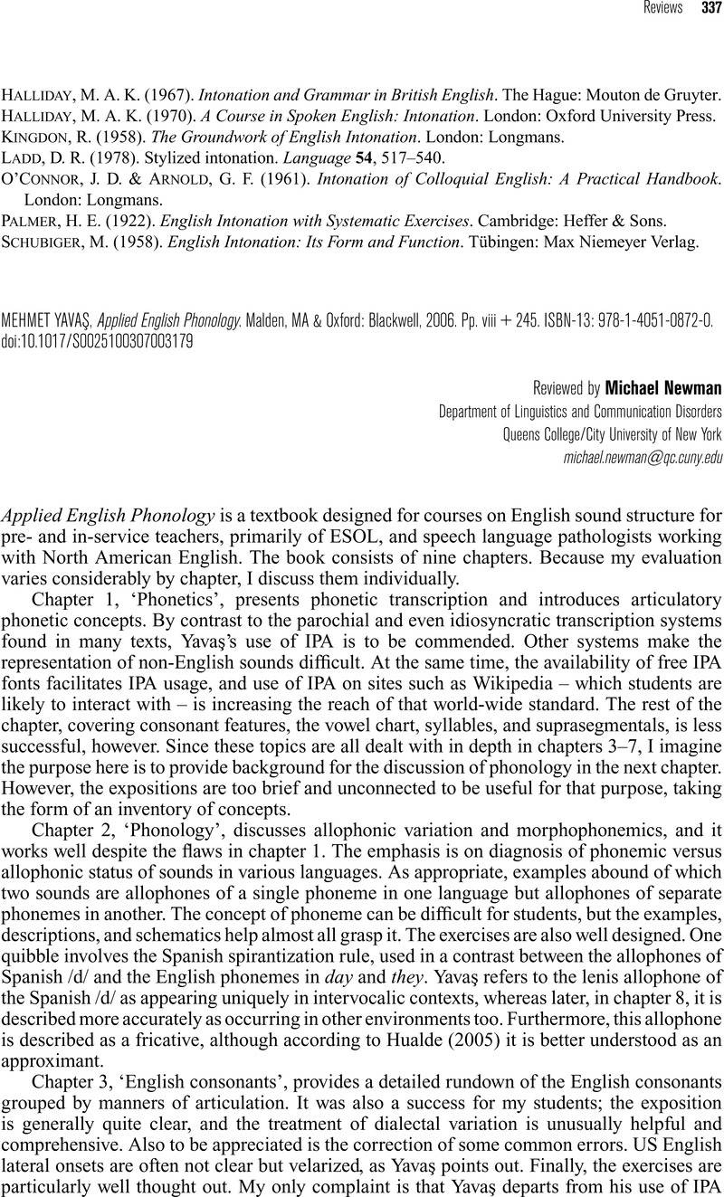 Applied English Phonology Mehmet Yavas Download