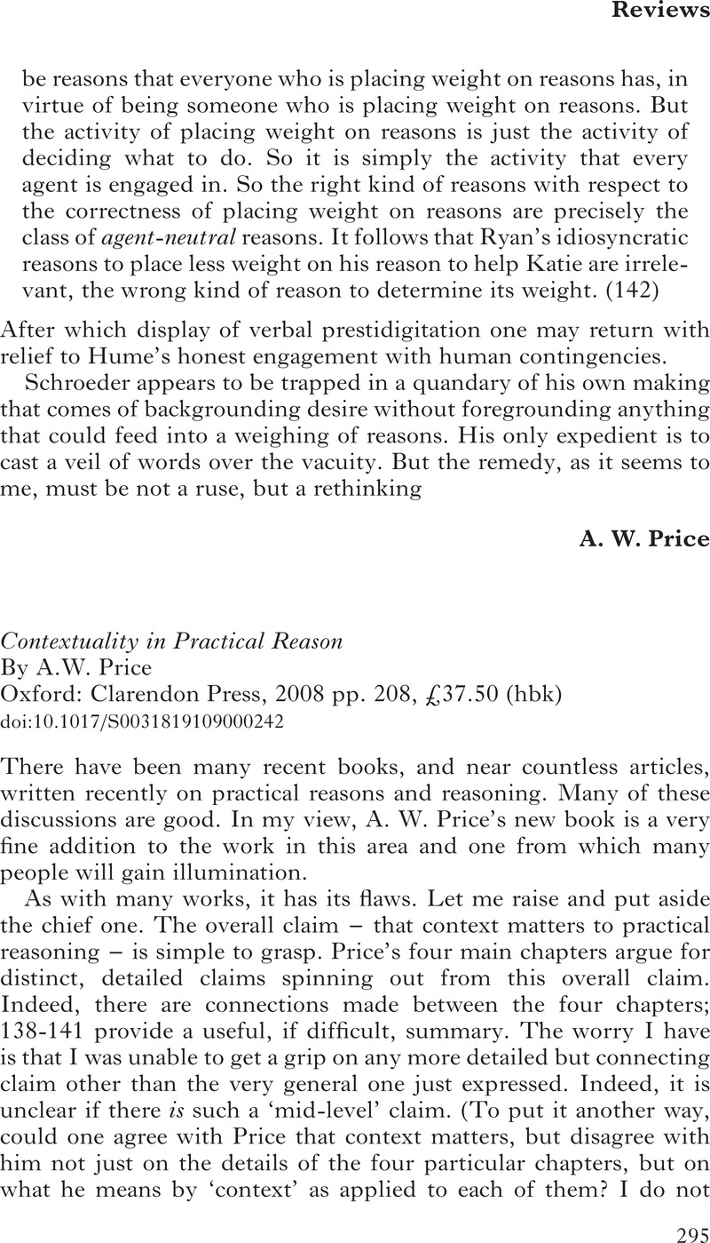 Contextuality in Practical Reason