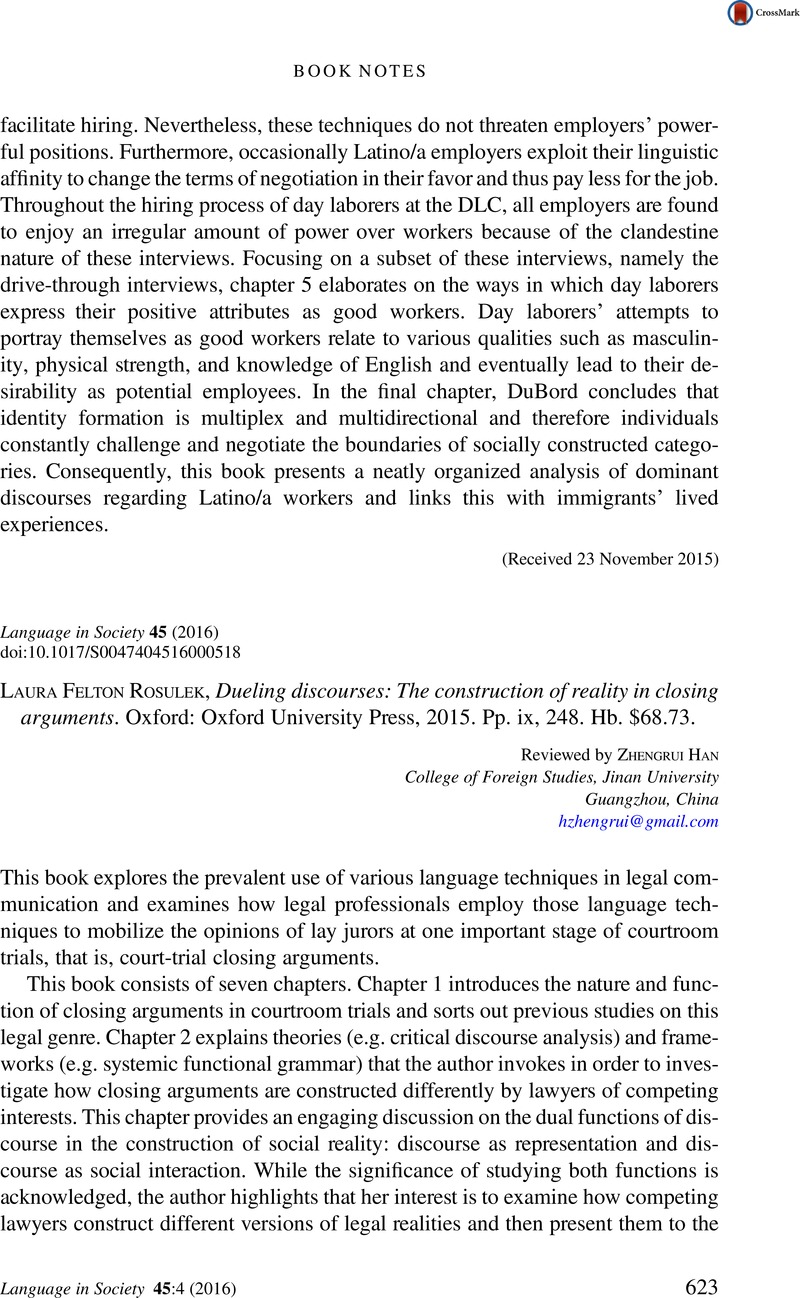 Current Articles: Language in Society