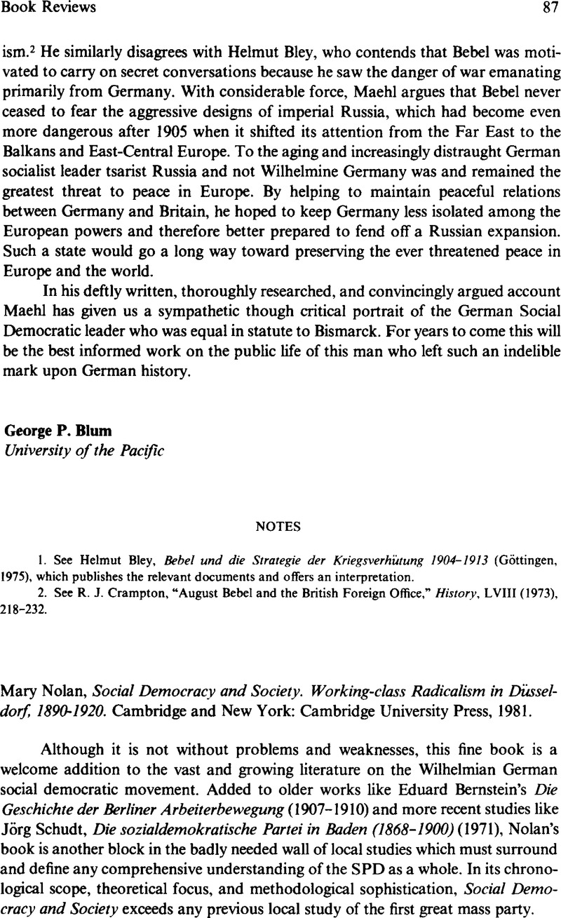 Social democracy and society - Working-class radicalism in Dusseldorf, 1890-1920