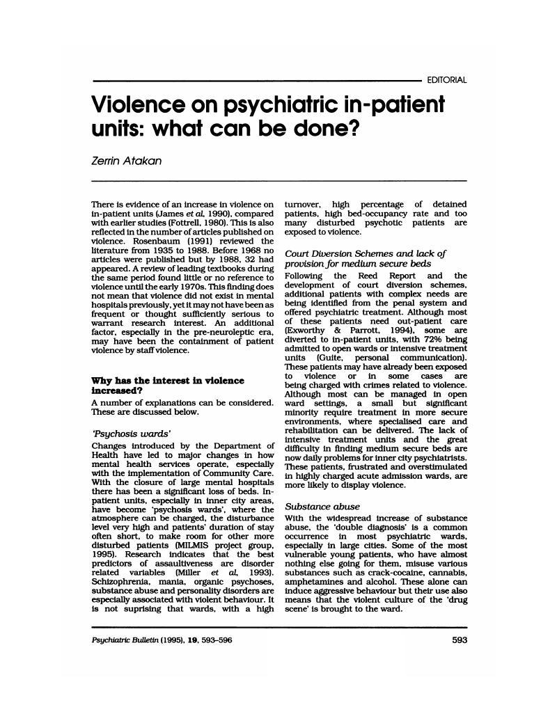 Sedating a violent patient psychiatry