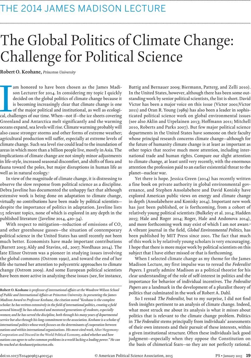CLIMATE CHANGE ARTICLES EPUB