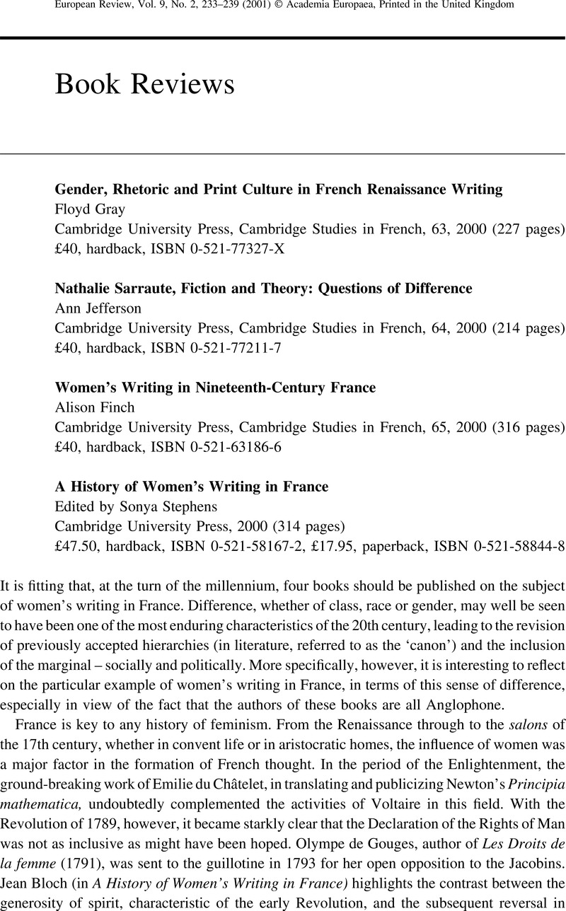 Gender Rhetoric And Print Culture In French Renaissance Writing Gray Floyd
