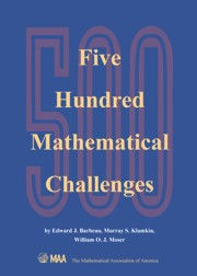 500 Mathematical Challenges