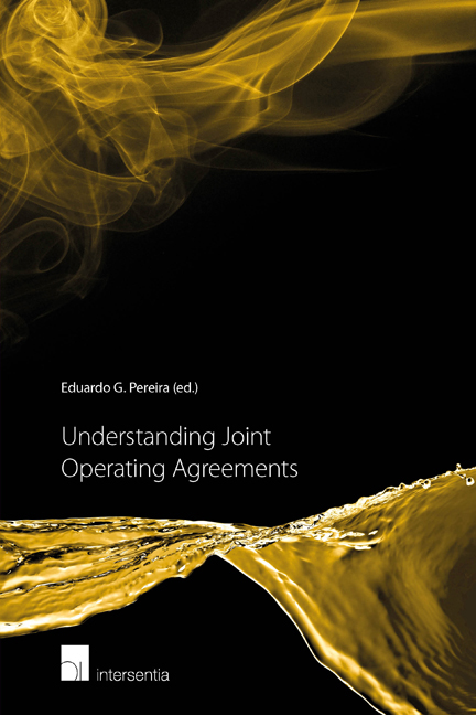 Understanding Joint Operating Agreements Edited By Eduardo G Pereira