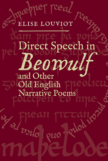 Direct Speech In Beowulf And Other Old English Narrative
