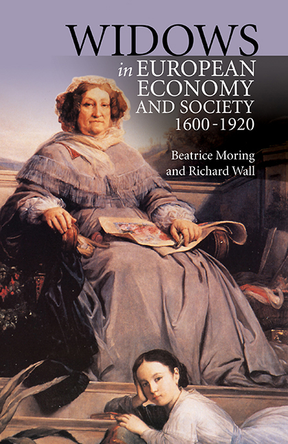 Widows in European Economy and Society, 1600-1920