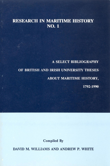 A Select Bibliography of British and Irish University Theses about Maritime History, 1792–1990