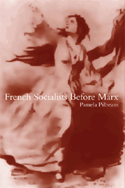 French Socialists before Marx