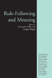 Rule-Following and Meaning