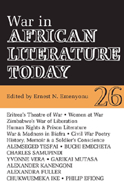 War in African Literature Today edited by Ernest N  Emenyonu