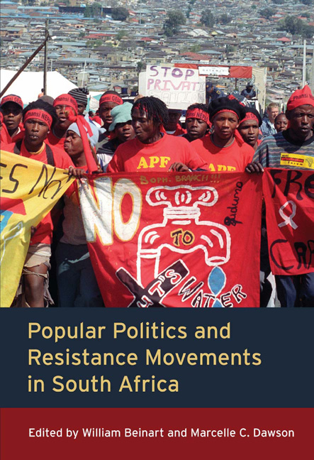 Popular Politics and Resistance Movements in South Africa