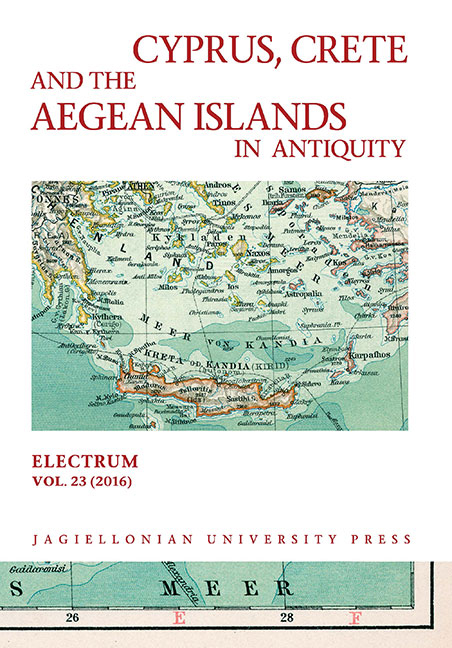 Cyprus, Crete and the Aegean Islands in Antiquity