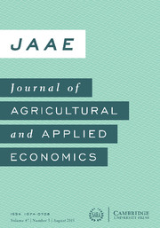 Journal of Agricultural and Applied Economics Volume 47 - Issue 3 -
