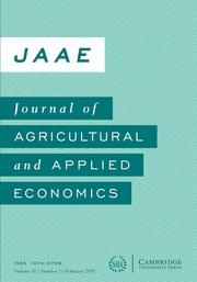 Journal of Agricultural and Applied Economics Volume 51 - Issue 1 -