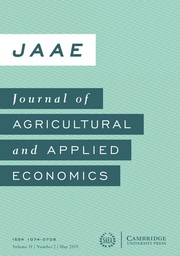 Journal of Agricultural and Applied Economics Volume 51 - Issue 2 -
