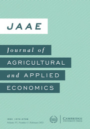 Journal of Agricultural and Applied Economics Volume 53 - Issue 1 -