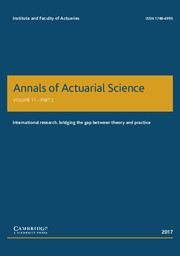 Annals of Actuarial Science