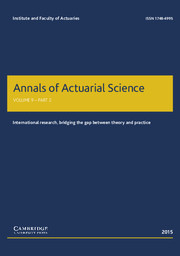 Annals of Actuarial Science Volume 9 - Issue 2 -