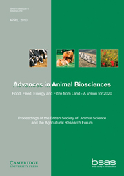 Advances in Animal Biosciences Volume 1 - Issue 1 -  Proceedings of the British Society of Animal Science and the Agricultural Research Forum