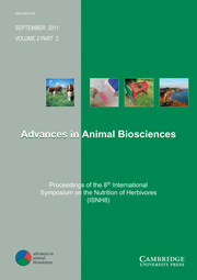 Advances in Animal Biosciences Volume 2 - Issue 2 -  Proceedings of the 8th International Symposium on the Nutrition of Herbivores (ISNH8)