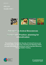 Advances in Animal Biosciences Volume 5 - Issue 1 -  Proceedings of the British Society of Animal Science and the Association of Veterinary Teaching and Research Work includes BSAS/EBLEX Workshop Improving Ewe Efficiency Through Better Feeding