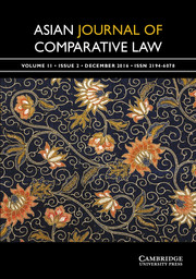 Asian Journal of Comparative Law Volume 11 - Issue 2 -  Special Issue on Vietnamese and Comparative Constitutional Law
