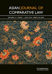 Asian Journal of Comparative Law Volume 13 - Issue 1 -