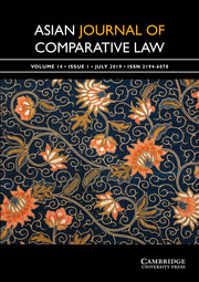 Asian Journal of Comparative Law Volume 14 - Issue 1 -