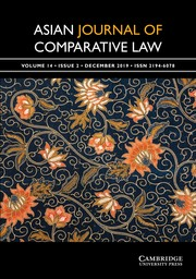 Asian Journal of Comparative Law Volume 14 - Issue 2 -