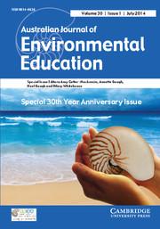 Australian Journal of Environmental Education Volume 30 - Issue 1 -