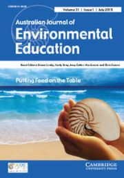 Australian Journal of Environmental Education Volume 31 - Issue 1 -  Putting Food on the Table