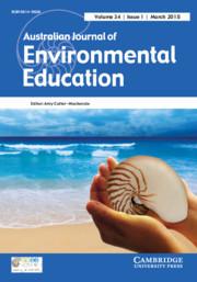 Australian Journal of Environmental Education Volume 34 - Issue 1 -