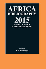 Africa Bibliography Volume 2015 - Issue  -