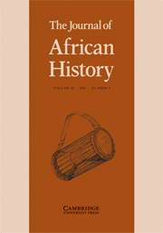 The Journal of African History Volume 49 - Issue 1 -