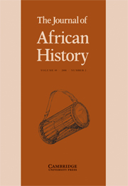 The Journal of African History Volume 49 - Issue 2 -