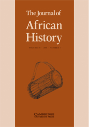 The Journal of African History Volume 49 - Issue 3 -