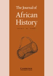 The Journal of African History Volume 52 - Issue 1 -