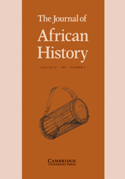 The Journal of African History Volume 52 - Issue 2 -