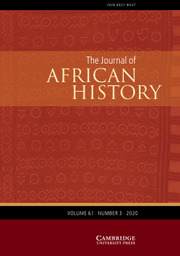 The Journal of African History Volume 61 - Issue 3 -
