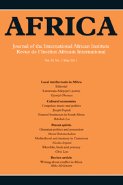 Africa Volume 81 - Issue 2 -