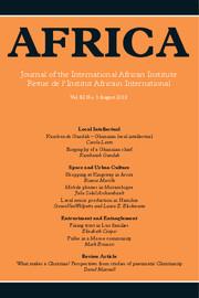 Africa Volume 82 - Issue 3 -