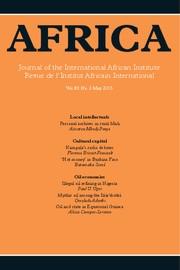 Africa Volume 83 - Issue 2 -