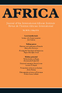 Africa Volume 84 - Issue 2 -