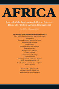 Africa Volume 85 - Issue 1 -