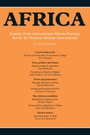Africa Volume 85 - Issue 2 -