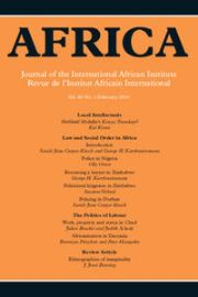 Africa Volume 86 - Issue 1 -