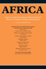 Africa Volume 86 - Issue 4 -